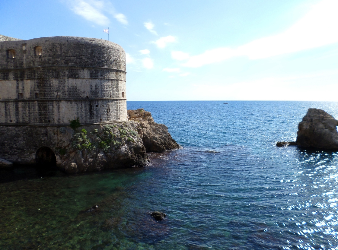 Fort Lovrijenac, sitting just outside the Croatian walled city of Dubrovnik