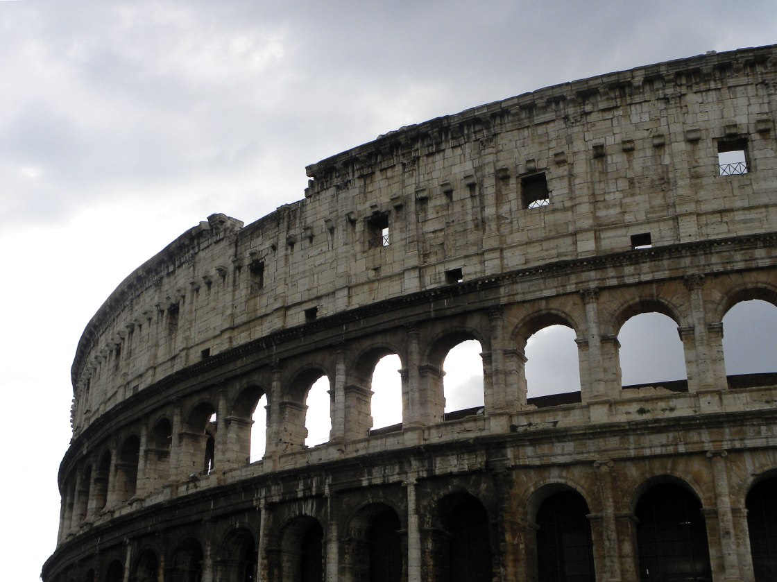 Close-up of Rome Coliseum