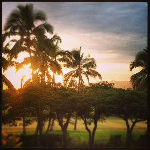 Fijian sunrise on Denarau Island