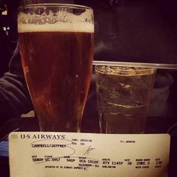 Drinks Around the World en route to Burlington, Vermont.