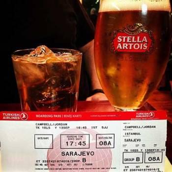 Drinks Around the World en route to Sarajevo, Bosnia i Herzegovina.