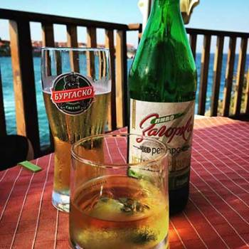 Drinks around the world in Sozopol, Bulgaria.