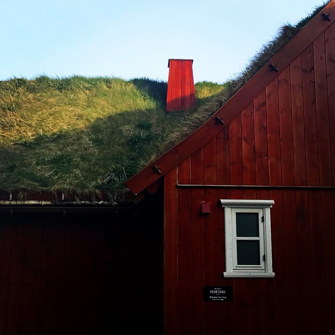 Torshavn grass-roofed home