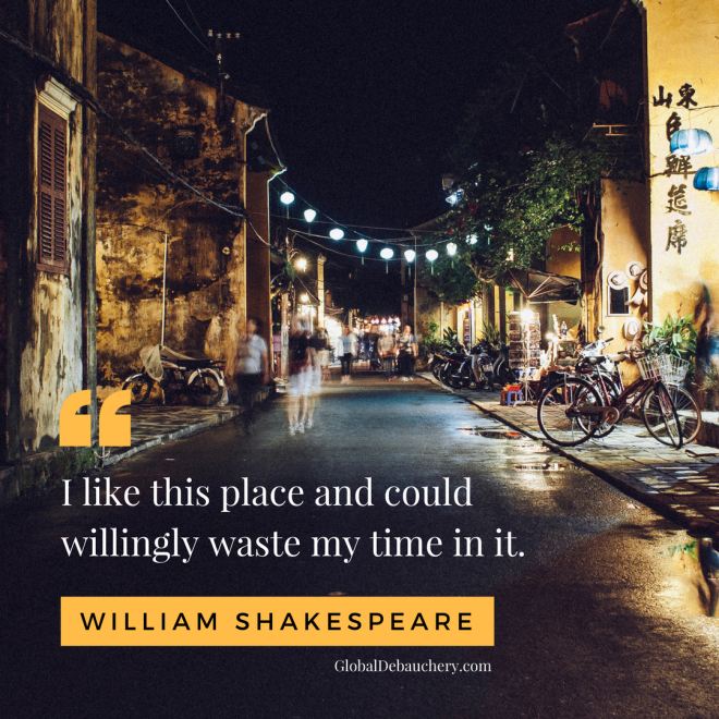 William Shakespeare travel quote