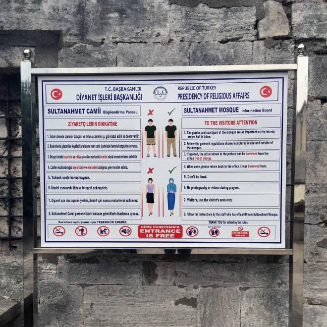 Hagia Sophia dress code
