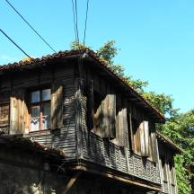 Wooden houses in Sozopol, Bulgaria