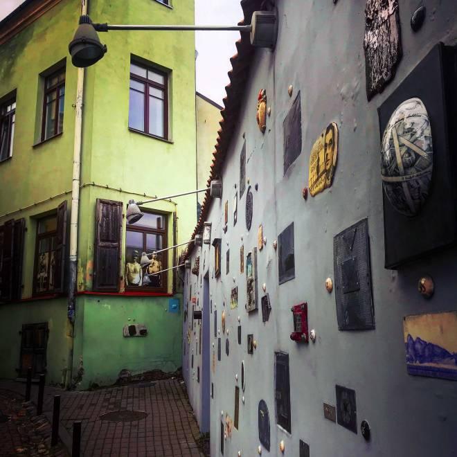 Literatu Gatve in Old Town Vilnius