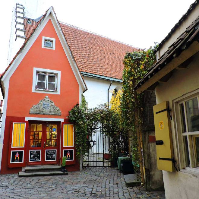 Saiakang Alley in Tallinn, Estonia