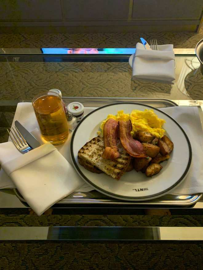 Breakfast in NYC hotel