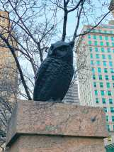 Random New York owl statue