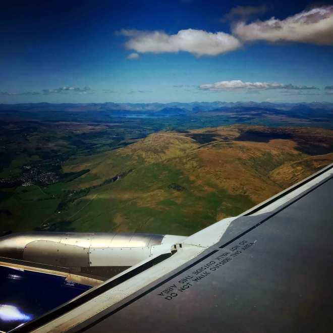 scotland view from flight