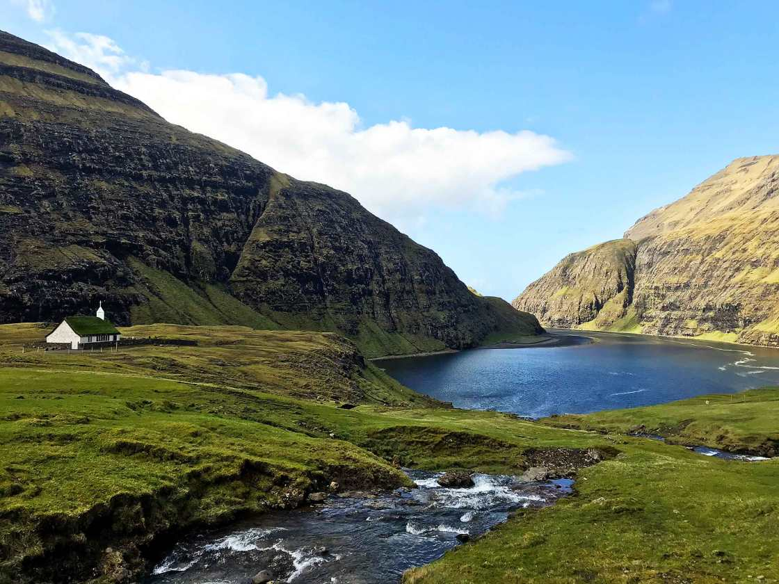 saksun in the faroe islands